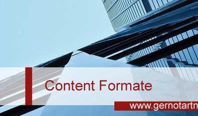 Die wichtigsten Content Formate