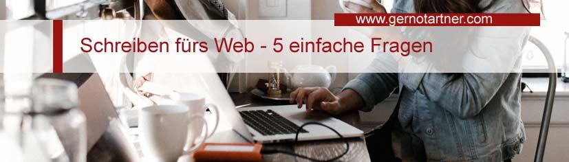 Schreiben fürs Web – 5 einfache Fragen