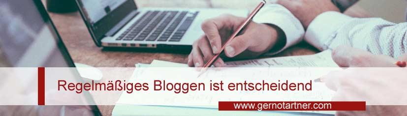 Regelmäßiges Bloggen ist entscheidend